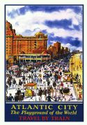 Vintage Travel Poster Atlantic City